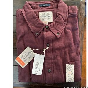 NWT Men's St Johns Bay Solid Flannel Shirt